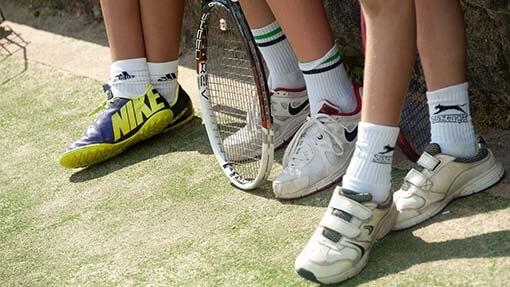 Tennis coaching for juniors at Wimbledon - in London UK